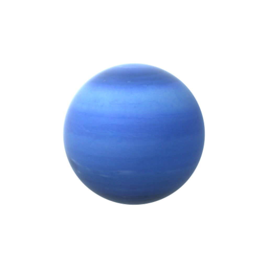 Neptune is the densest of the giant planets in our solar system.  Most of its mass is a hot fluid of icy materials such as water, methane and ammonia.