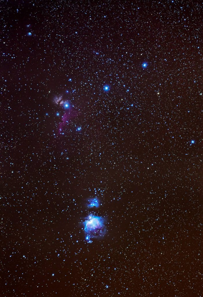 Orion contains two of the ten brightest stars in the night sky. Betelgeuse is the 10th brightest and Rigel is the 7th brightest star. Orion is visible in the west around 9pm tonight.