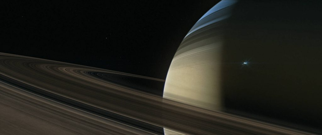 Only four spacecraft have visited Saturn.  Pioneer 11 and Voyager 1 and 2 flew by Saturn.  The Cassini mission stayed in orbit around Saturn studying the ringed planet from 2004 to 2017.