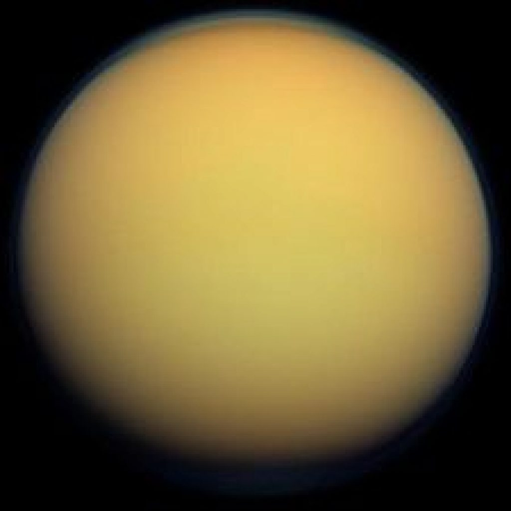 Did you know that Saturn's moon, Titan is larger than the planet Mercury?  Titan is 3,200 miles in diameter.  Mercury is 3,032 miles in diameter. Saturn has a moon that is larger than a planet!