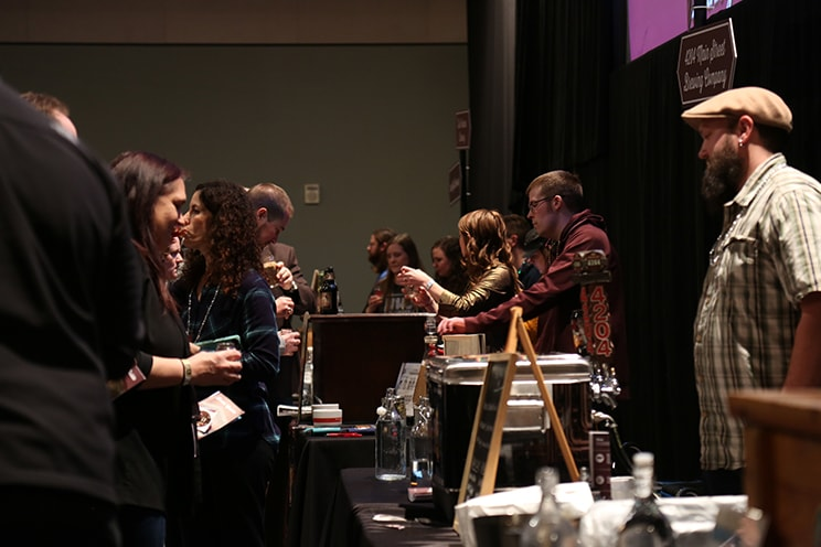 Beer pouring at Science On Tap Event