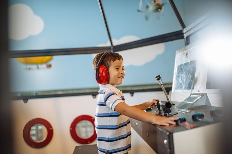 Boy playing in Discovery Room