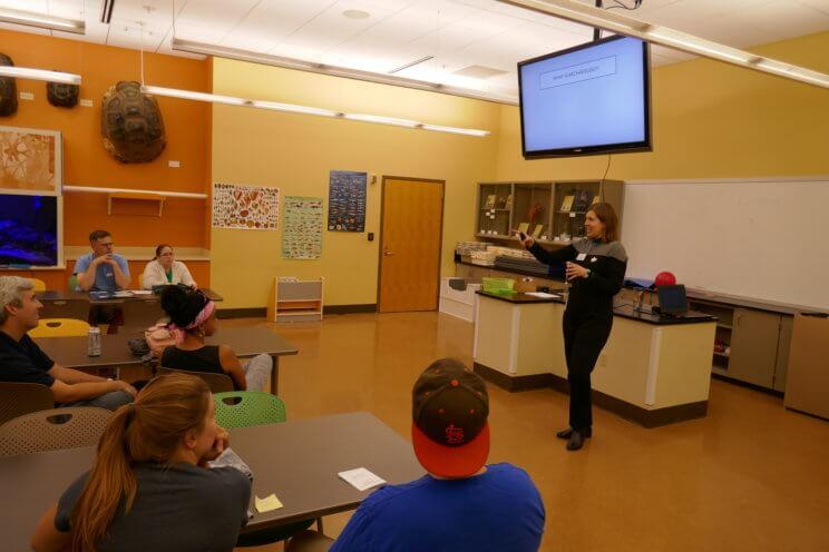 First Friday Coordinator Lauren Johnson talks about archaeology at First Friday Star Trek.