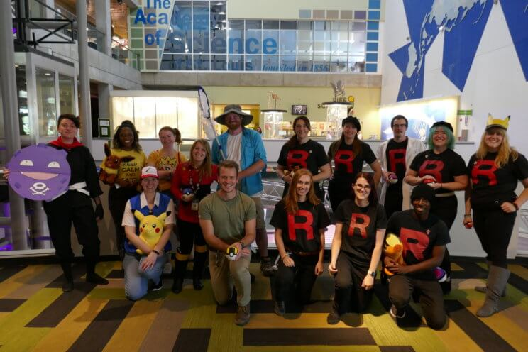 The Science Center team gets ready for First Friday Pokémon.