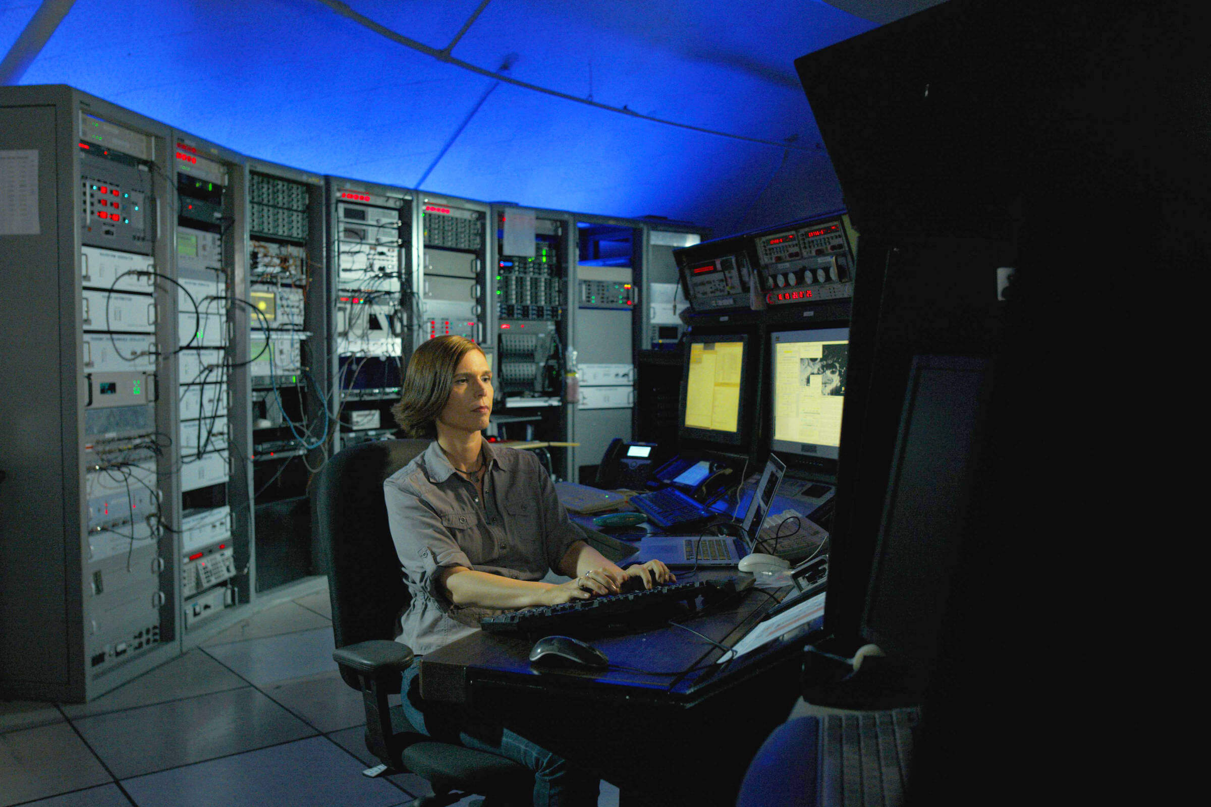 Marina Brozović PhD of NASA's Jet Propulsion Laboratory studies radar signals to understand the size, speed and location of asteroids.