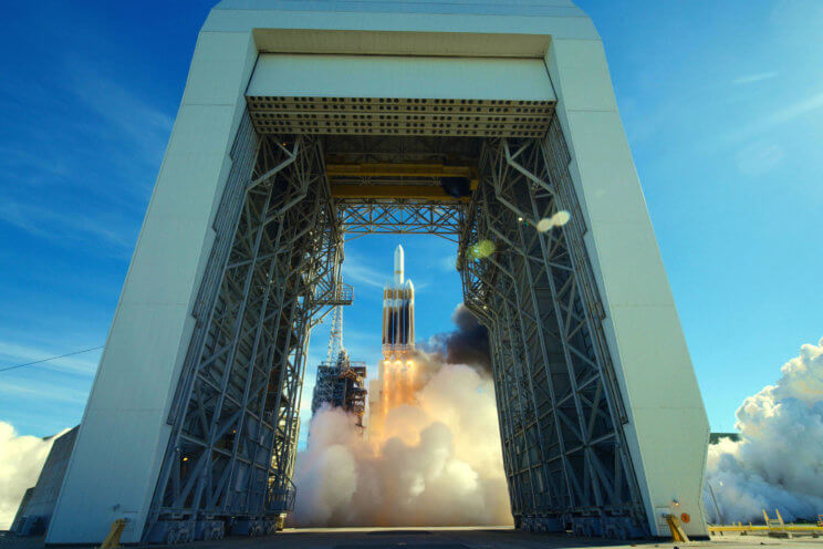 Delta IV Heavy Rocket could transport a space probe to avert and redirect an asteroid on a path toward Earth.